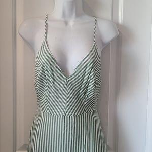 Green White Stripe Maxi